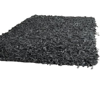 Safavieh Handmade Metro Modern Grey Leather Shag Rug