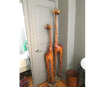 Wooden Painted Giraffes