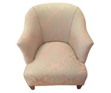 Ethan Allen Brocade Sofa Chair
