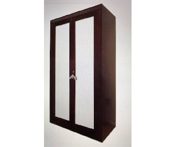 Italian Solid Wood Wardrobe w/ Mirror