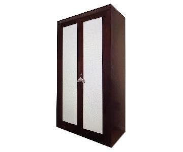 Italian Solid Wood Wardrobe w/ Mirror