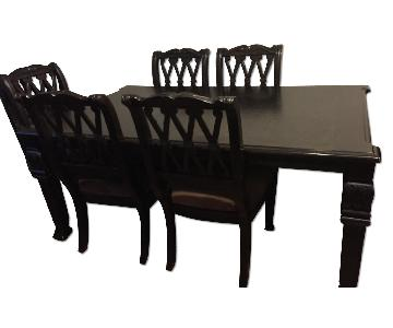Ashley's Hardwood Dining Table w/ 8 Chairs