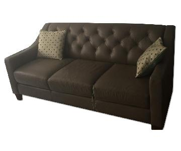 Macy's Leather Couch + Matching Loveseat