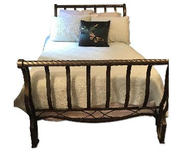 Full Size Metal Sleigh Bed