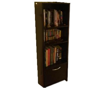 South Shore Furniture Black Wooden Bookshelf