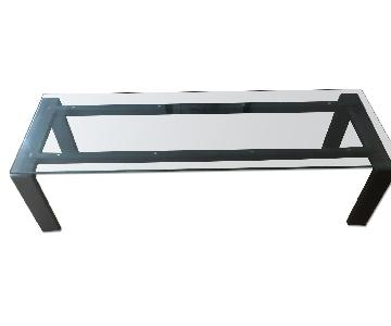 Room & Board Rand Cocktail Table in Natural Steel & Glass