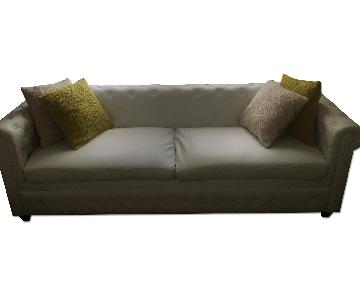 Modway White Earl Midcentury Tufted Sofa