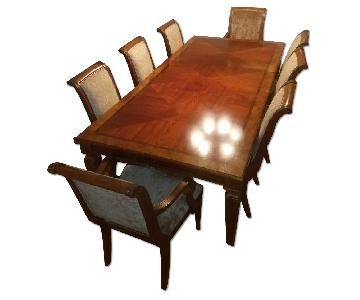 Ethan Allen Goodwin Dining Table w/ 8 Chairs
