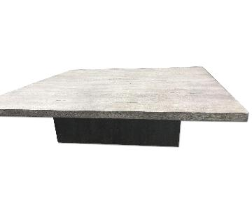 Restoration Hardware Reclaimed Russian Oak Plinth Square Coffee Table