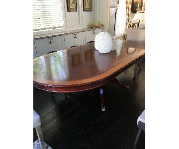 Wood Oval Dining Room Table