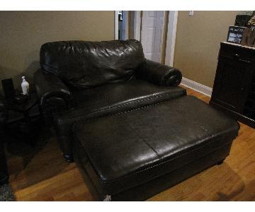 Bob's Furniture Oversized Loveseat & Ottoman