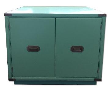 Vintage Tiffany Blue End Table/Coffee Table