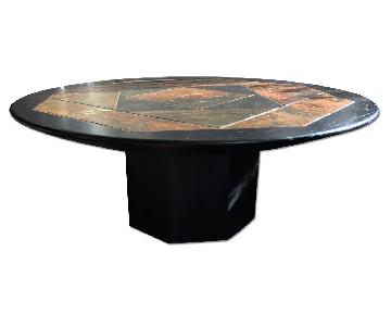 Stone Inlay Coffee Table