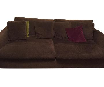 Crate & Barrel Lounge Sofa + Loveseat + Chaise Lounge