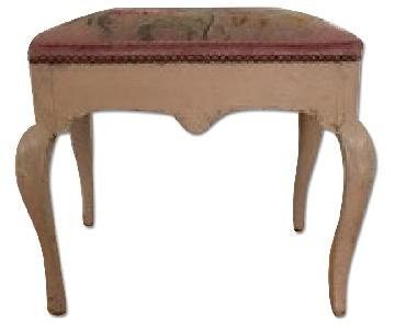 Antique Needlepoint Stool