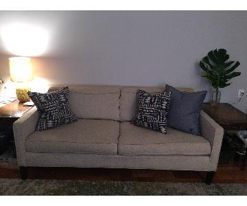 West Elm Cotton/Linen Blend Sofa in Sand