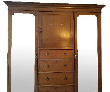 Hamptons and Sons Wood Armoire