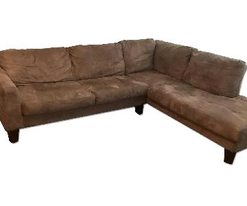 Jennifer Convertibles Microsuede Sectional Sofa