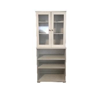 Ikea Brusali Pantry with glass cabinet doors
