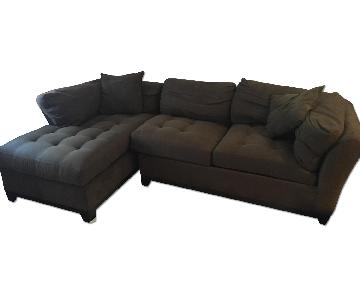 Brown L Shape Sectional Sofa