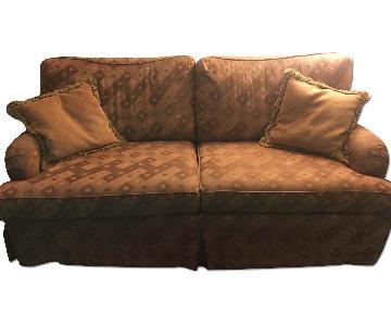 Full Sleeper Sofa w/ Throw Pillows