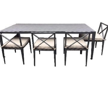 Restoration Hardware Indoor/Outdoor Dining Room Table w/ 4 Chairs