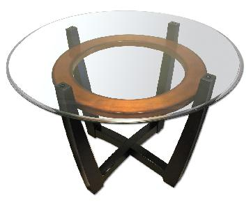 Raymour & Flanigan Elation Glass Dining Table