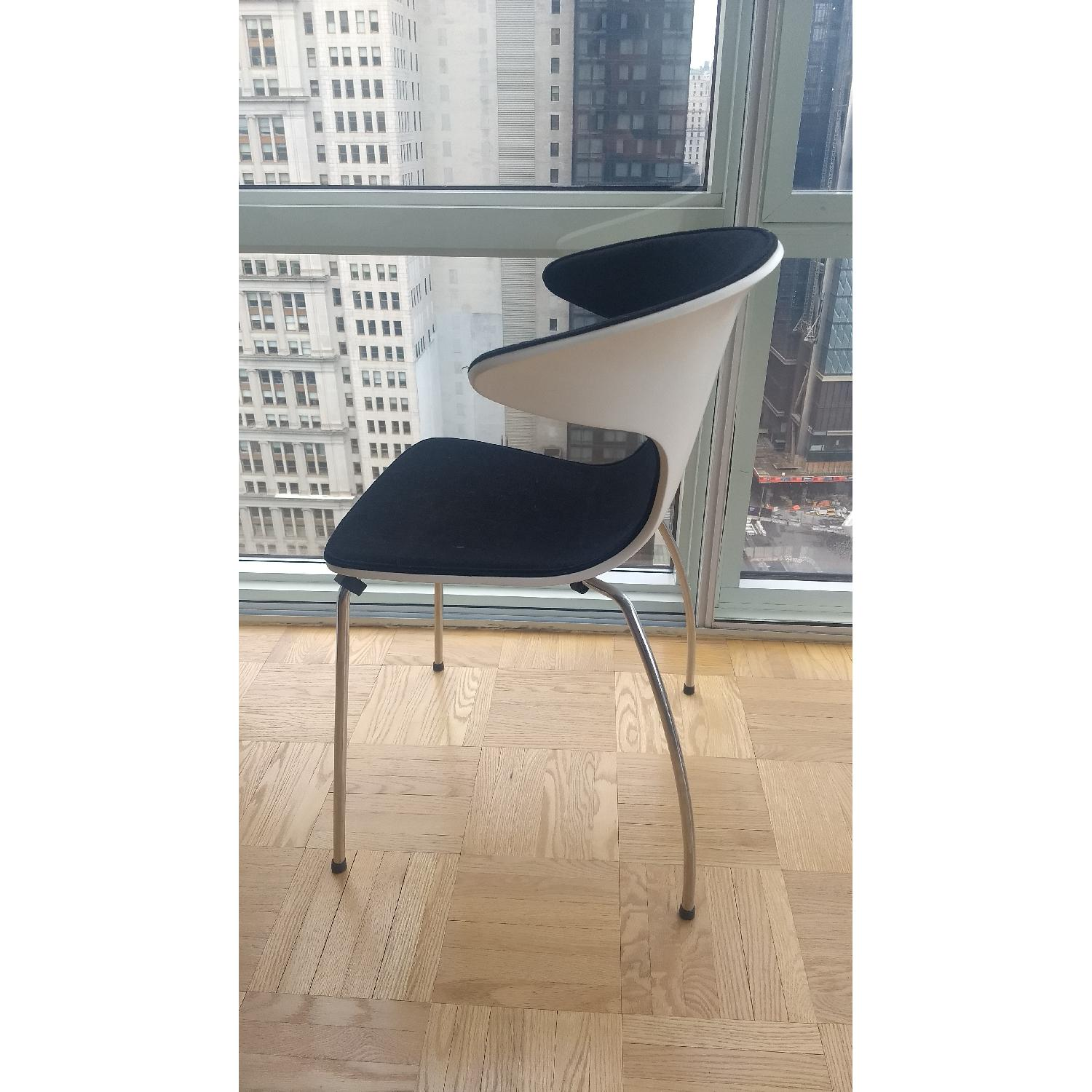 Mod Winged White & Black Dining Chairs-0