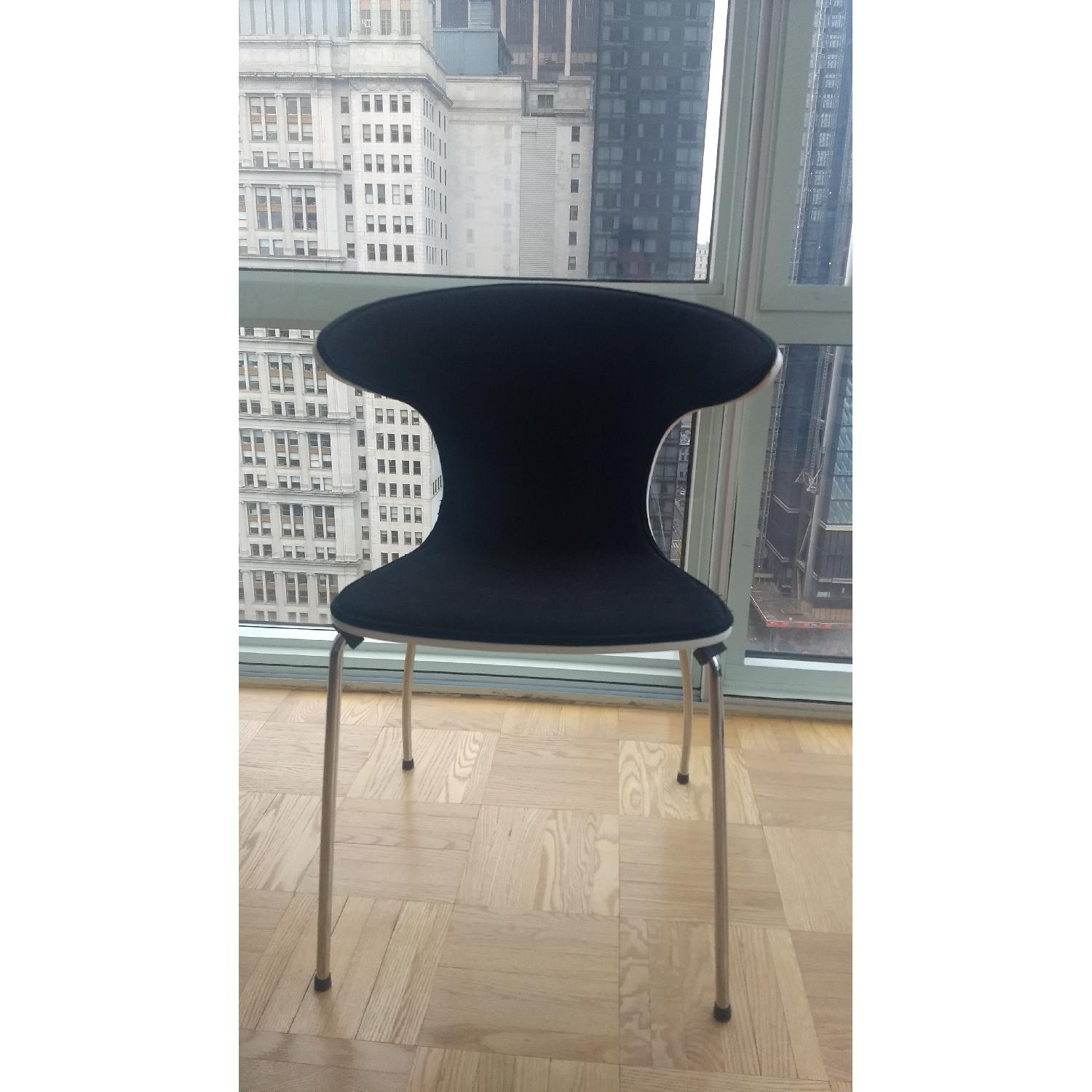 Mod Winged White & Black Dining Chairs-1