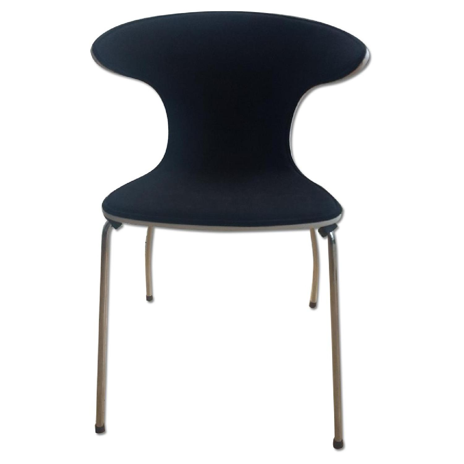 Mod Winged White & Black Dining Chairs