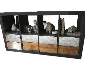 Ikea Kallax High Gloss Shelf Unit w/ Doors