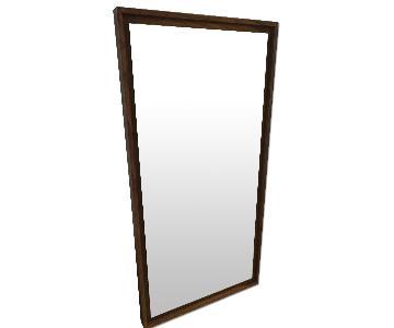 West Elm Mid-Century Acorn Floating Wood Wall Mirror