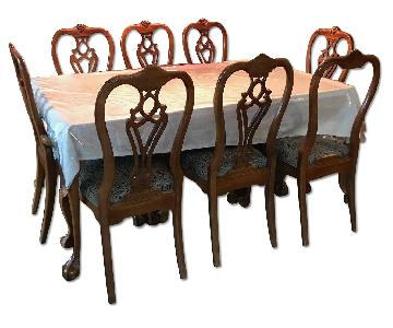 Thomasville Mahogany 10 Piece Dining Set