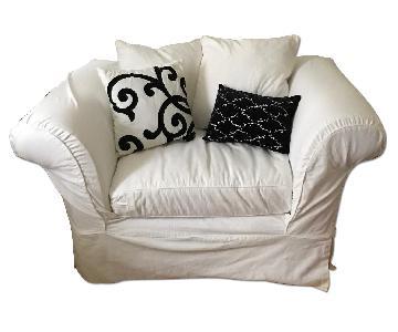Montauk Sofa Shabby Chic Slipcover Oversized Down Chair