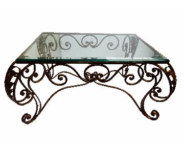 French Style Fer Forge Coffee Table
