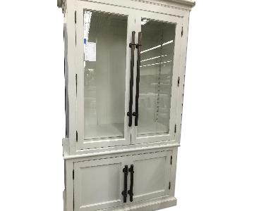 Restoration Hardware English Brass Bar Pull Double Door Cabinet/Hutch