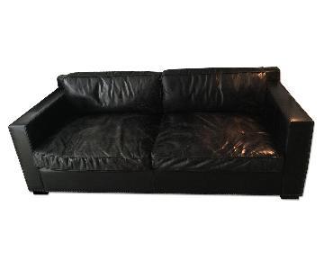 Restoration Hardware Collins Leather Sofa w/ Nailheads