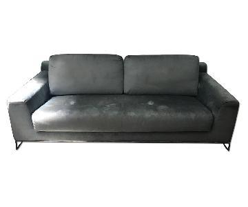 Dune Baxter Sleeper Sofa in Blue Chenille