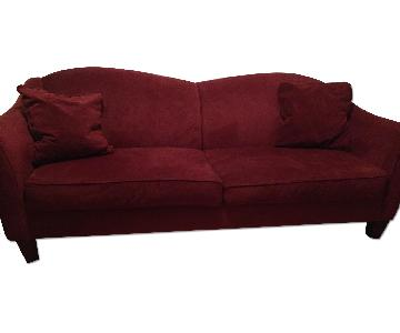 Raymour & Flanigan Scarlet Couch