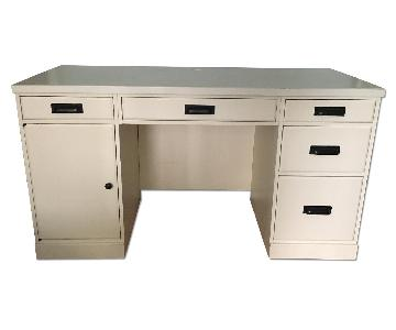 Pottery Barn White Desk w/ Storage
