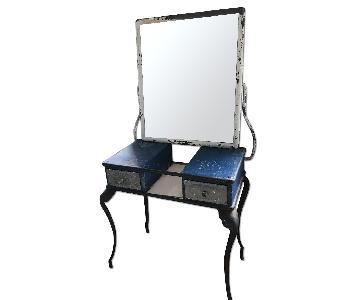 Antique Iron Vanity w/ Mirror