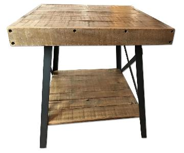 Industrial Wood Side Table