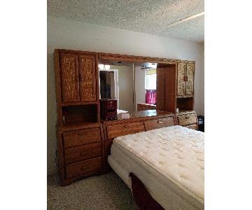3 Piece Oak Bedroom Set