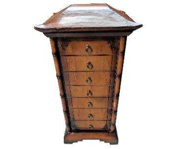 Asian Chinoiserie Style Pagoda Jewelry Armoire/Chest