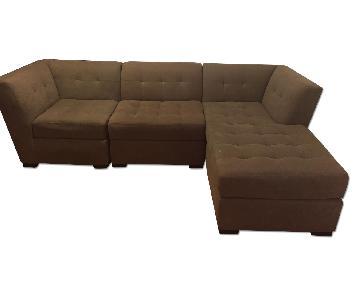 Macy's Beige 3 Piece Sectional Sofa