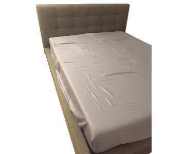 Baxton Studio Queen Size Contemporary Grey Fabric Platform Bed