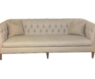 Robin Bruce Tufted Cream Sofa