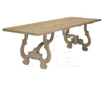 GJ Styles Reclaimed Pine Wood Dining Table w/ 6 Chairs