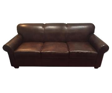 WayFair Leather Sleeper Sofa