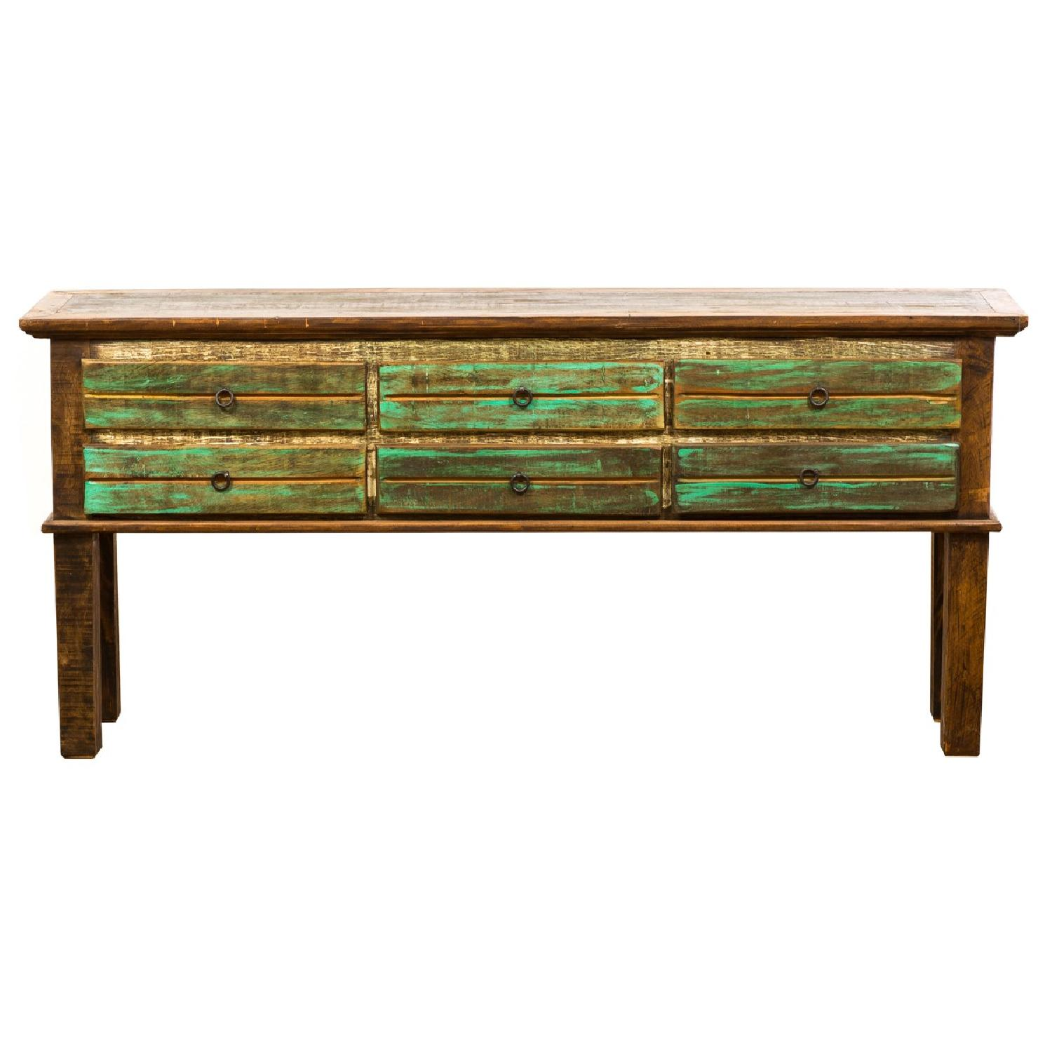 Vintage 6 Drawer Console/Sofa Table
